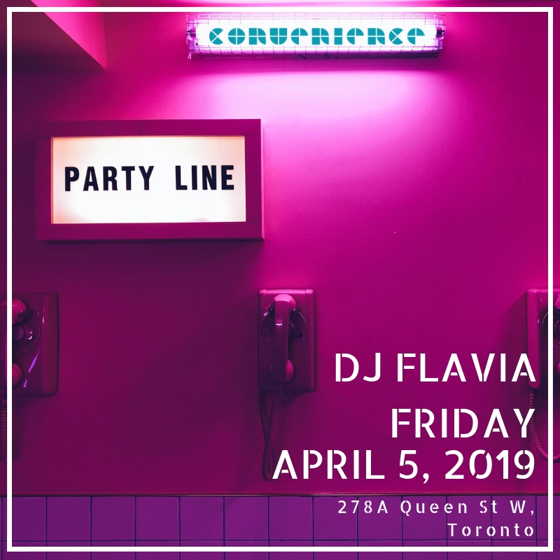 convenience bar Queen West Instagram Party Line Flavia Female DJ sound DJ Flav Toronto DJ Artist