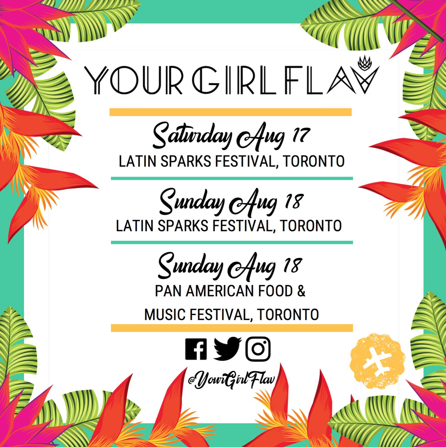Flavia Abadia (Your Girl Flav) is a Female Toronto Based